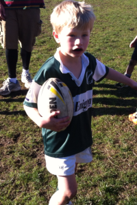 My youngest Ben playing rugby