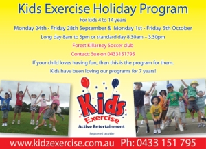 Join us for school holiday fun Monday 23rd September - Friday 4th October. Registered Provider, Forest Killarney Soccer Club